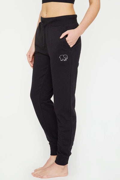 Ivory Ella W Pants Black Embroidered Jogger