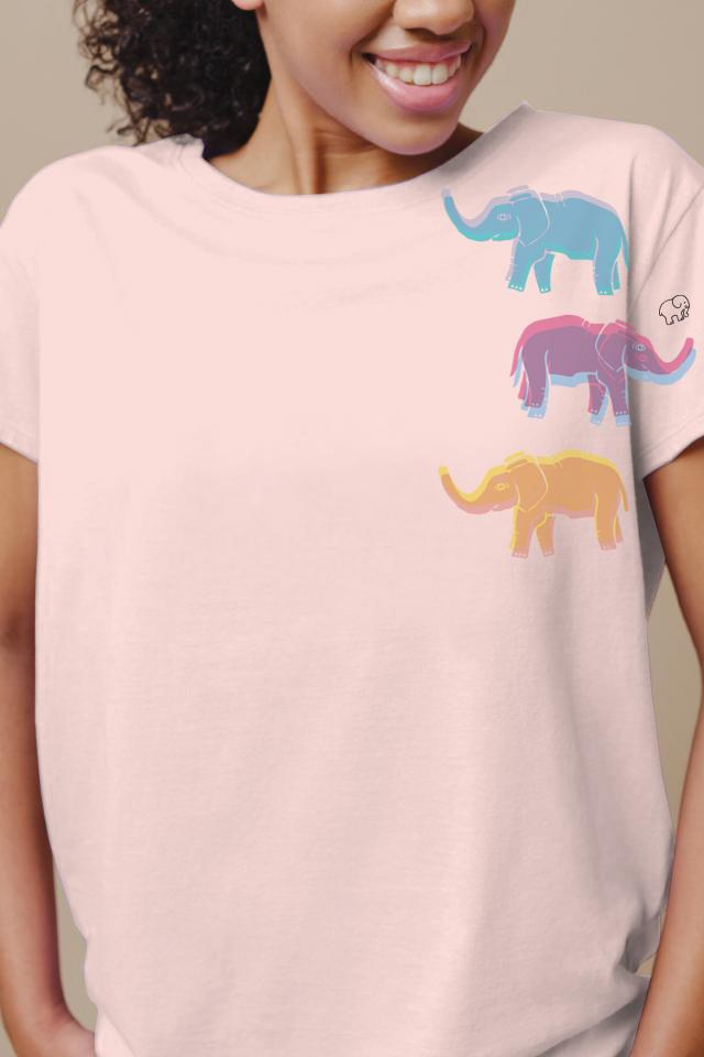 Ivory Ella W Short Sleeve Knits Alba Ellies Relaxed Tee