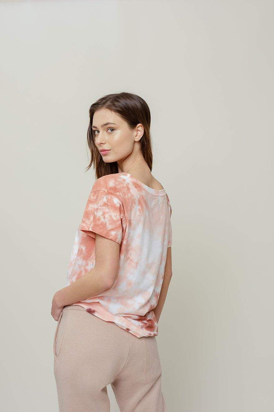 Ivory Ella W Short Sleeve Knits Alba Mission Tie Dye Relaxed Tee