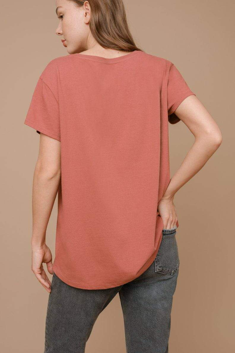 Ivory Ella W Short Sleeve Knits Alba Safari Relaxed Tee