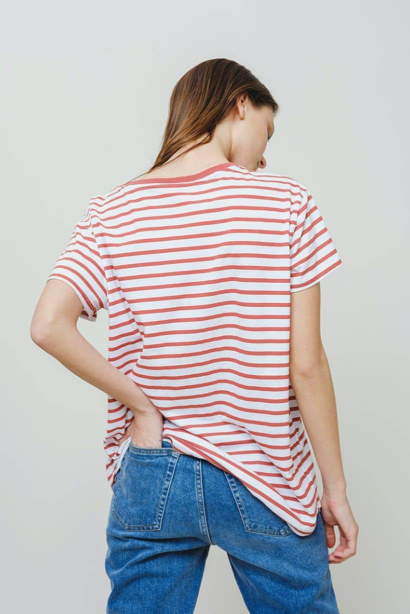 Ivory Ella W Short Sleeve Knits Paprika / XS Alba Too Fab Relaxed Tee