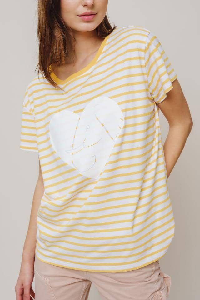 Ivory Ella W Short Sleeve Knits Alba Too Fab Relaxed Tee