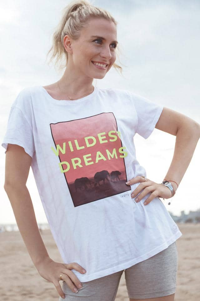 Ivory Ella W Short Sleeve Knits Alba Wildest Dreams Relaxed Tee