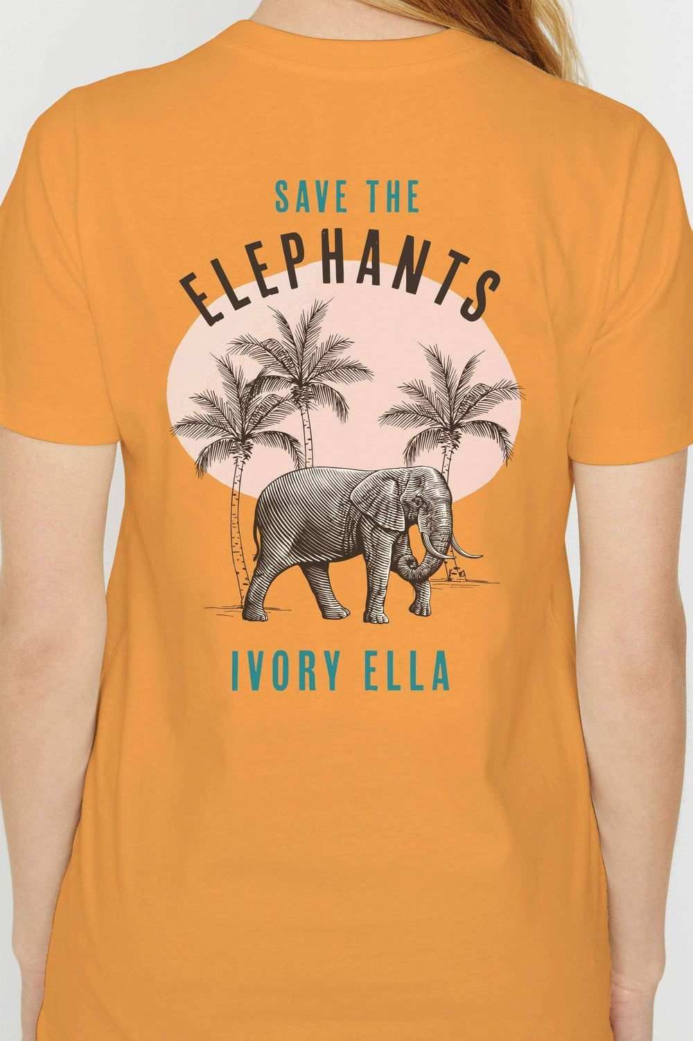 Ivory Ella W Short Sleeve Knits Blazing Orange / XXS Ella Regular Fit Palms Tee