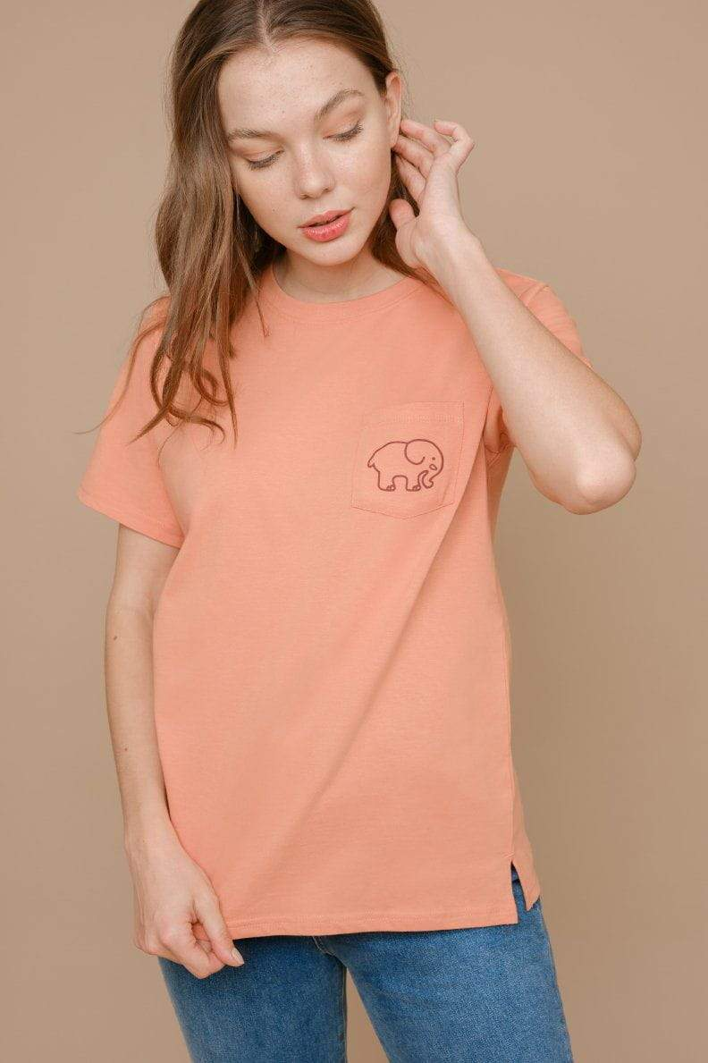 Ella Regular Fit Leopard Tee (Clay / L)