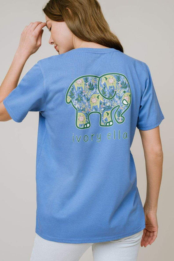 Ella Regular Fit Prairie Elephants Tee