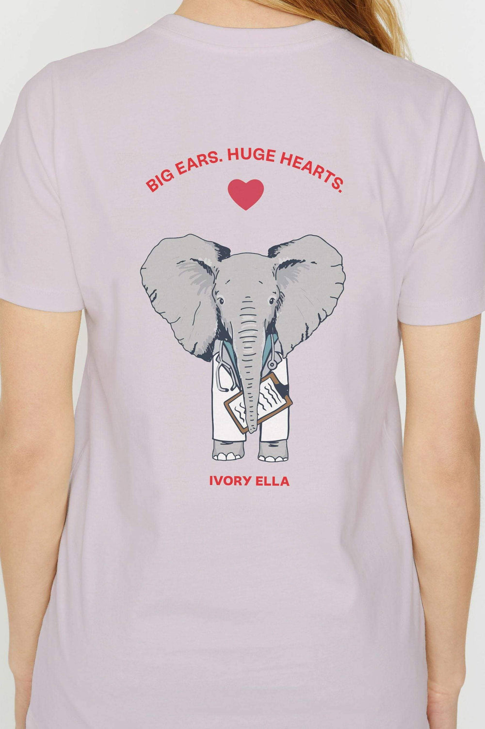 Ivory Ella W Short Sleeve Knits Ella Regular Fit Huge Heart Tee