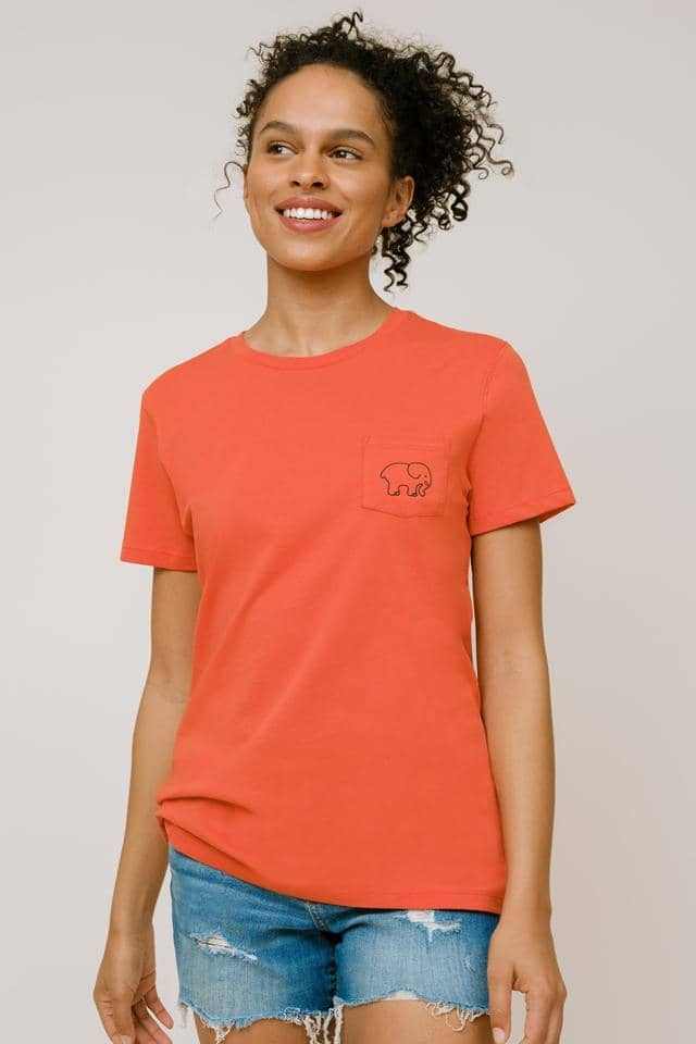 Ivory Ella W Short Sleeve Knits Ella Regular Fit Surf Tee