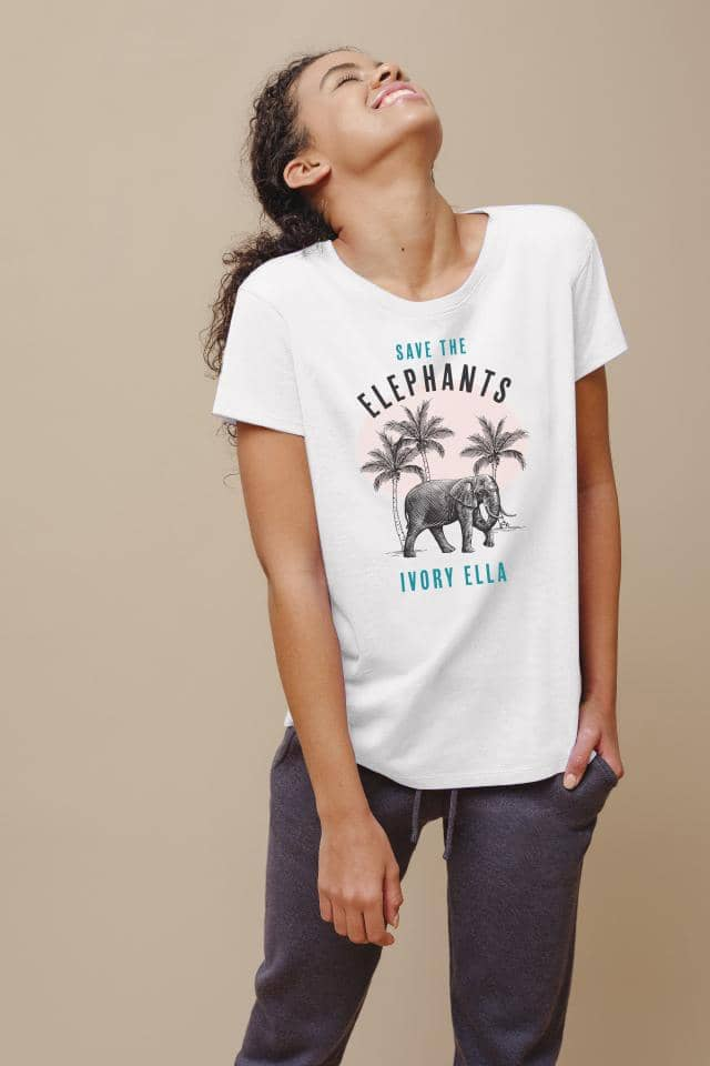 Ivory Ella W Short Sleeve Knits White / XS Alba Palms Relaxed Tee