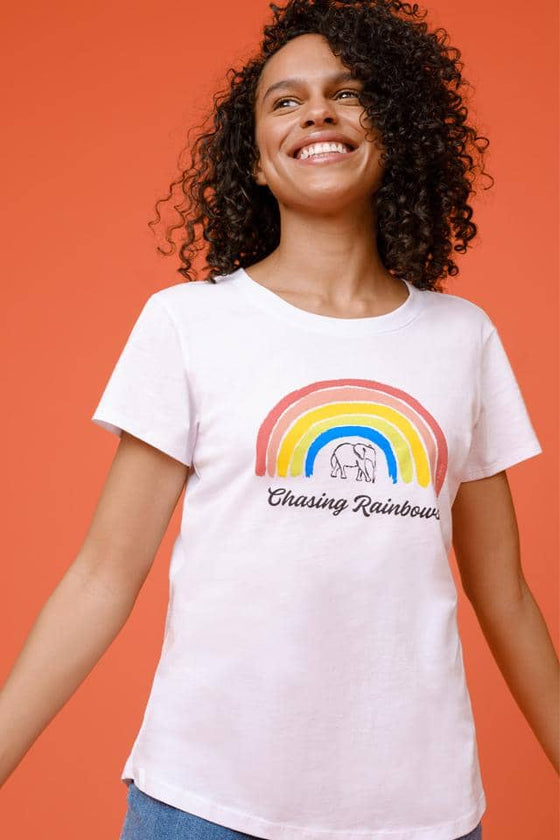 Amie Chasing Rainbows Slim Tee