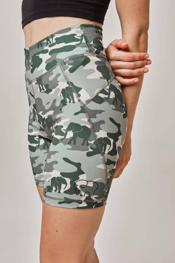 Alaina High Waist Camo Bike Short