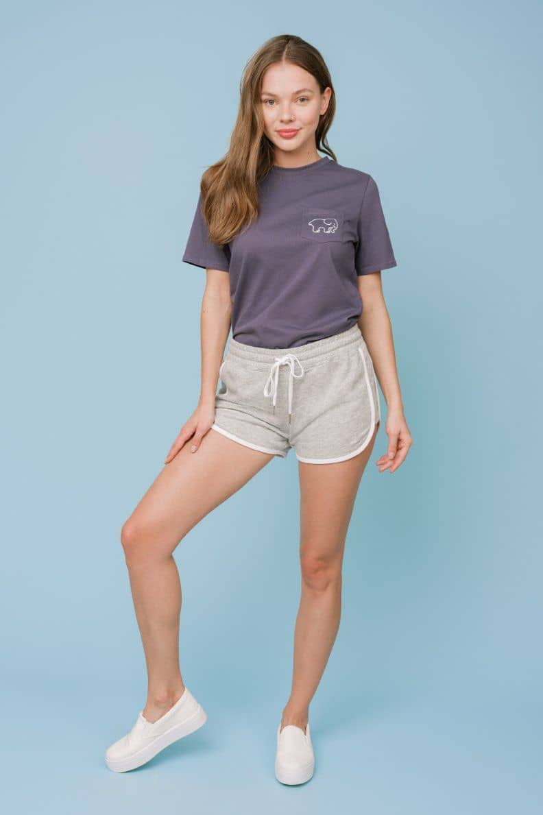 Ivory Ella W Shorts Heather Grey / XS Addison Varsity Short
