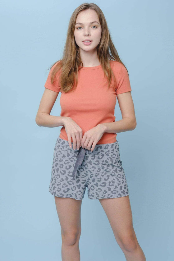 Analee Regular Fit Cut-Off Short Leopard