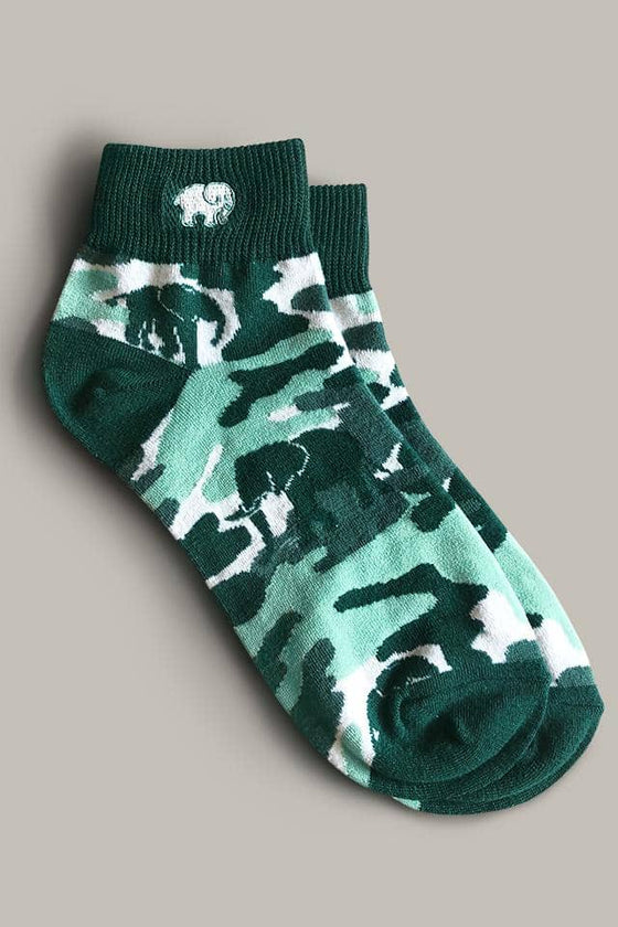 Camo Quarter Socks