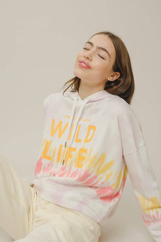 Adele Relaxed Fit Raglan Wildlife Crewneck
