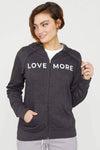 Ivory Ella W Sweatshirts Grey Love More Hoodie