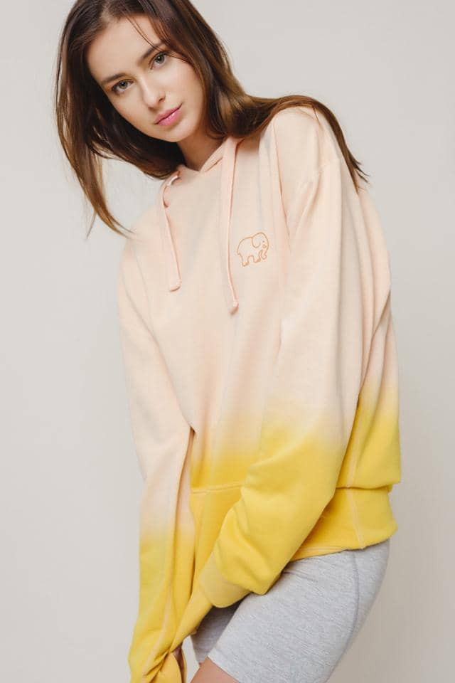 Ivory Ella W Sweatshirts Pink Yellow / XS Rich Oversized Ombre Hoodie