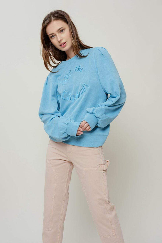 Ariel Pleat Sleeve Sweatshirt