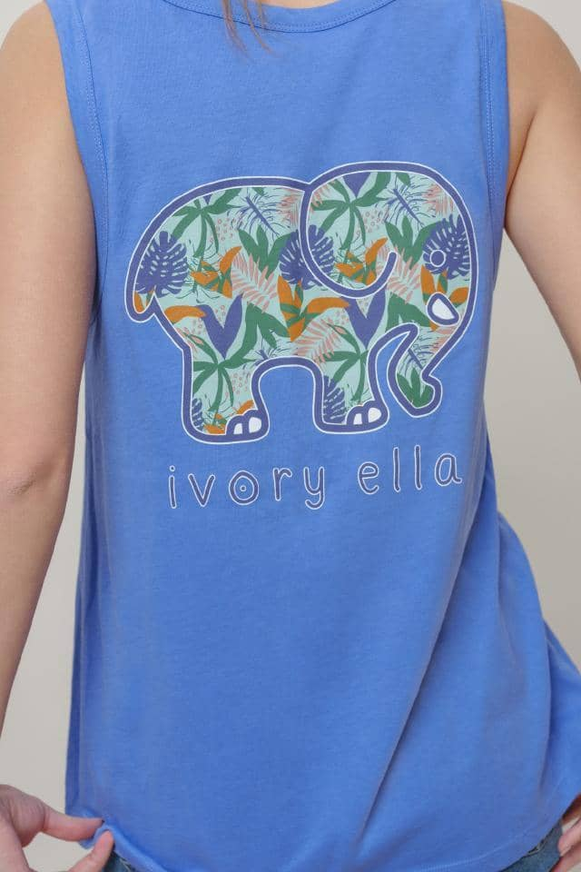 Ivory Ella W Tanks Angie Tropical Leaves Tank
