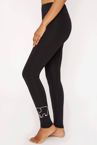 Black Recycled Poly Legging - Ivory Ella - Women's Bottoms