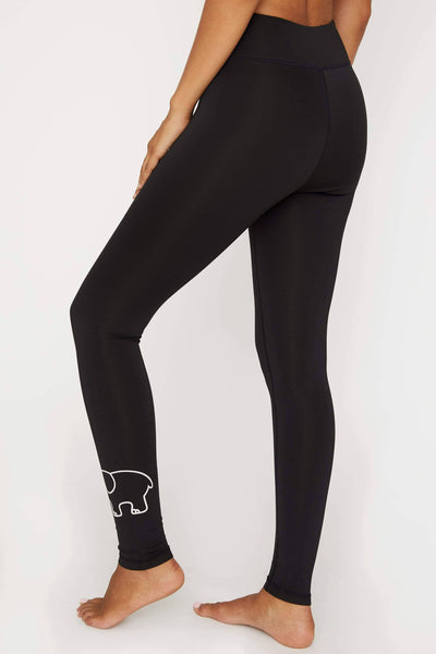 Ivory Ella Women's Bottoms Black Recycled Poly Legging