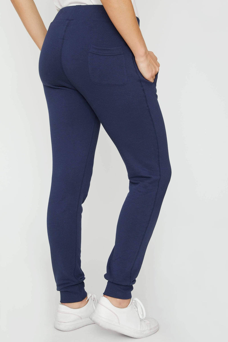 Dark Navy Sierra Organic Jogger - Ivory Ella - Women's Bottoms