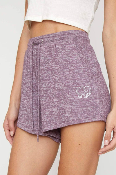 Eggplant Cozy Short - Ivory Ella - Women's Bottoms