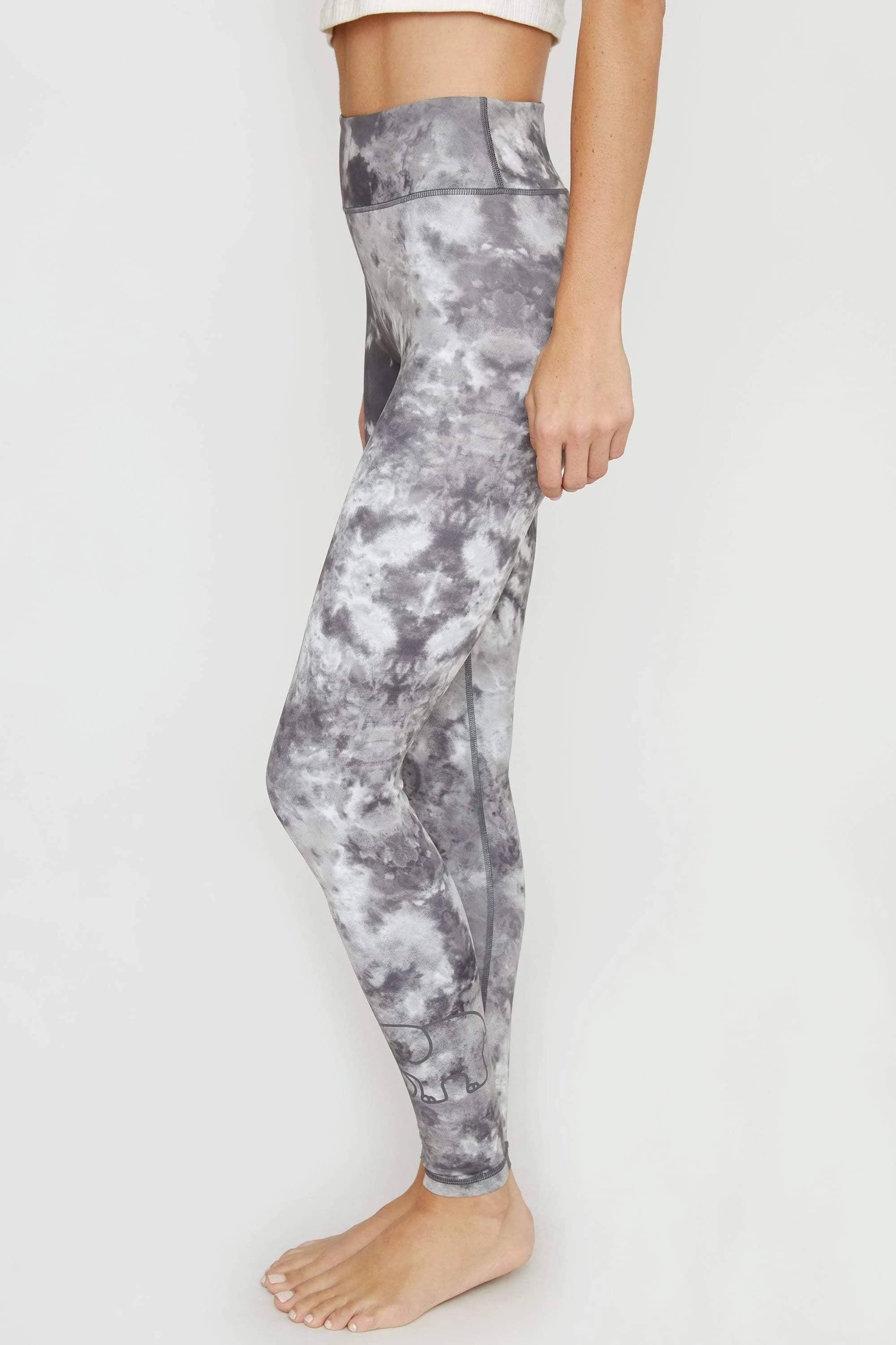 Dark Grey Acid Wash Recycled Legging - Ivory Ella - Women's Bottoms