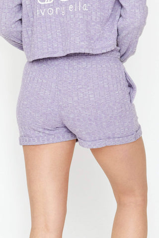 Ivory Ella Women's Bottoms XS Amethyst Hacci Shorts