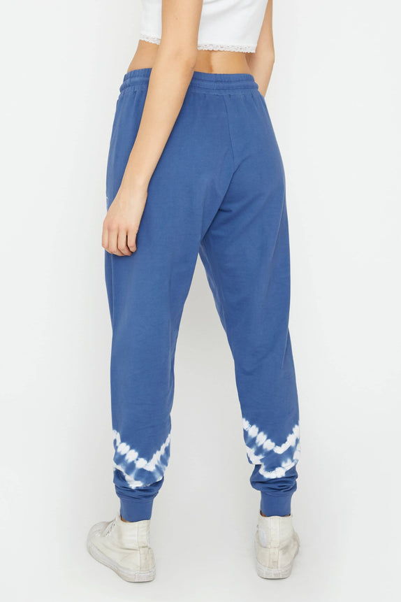 Blue Double Stripe Tie Dye Jogger