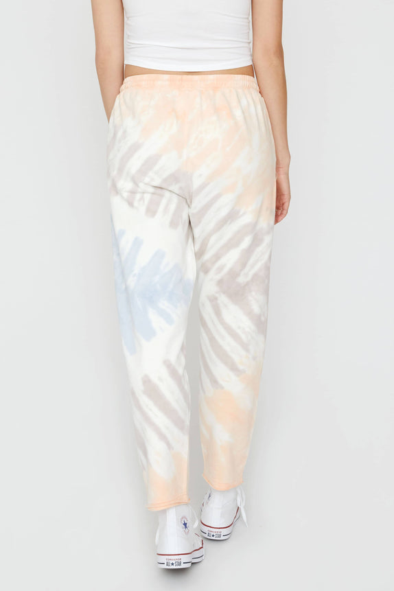 Crystal Pink 3 Color Tie Dye Sweatpants