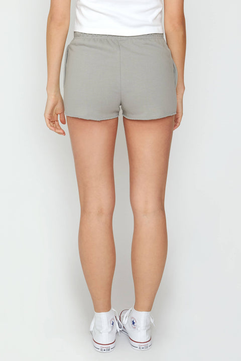 Ivory Ella Women's Bottoms XS Diamond Grey Organic Drawstring Shorts