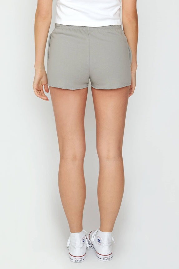 Grey Organic French Terry Shorts
