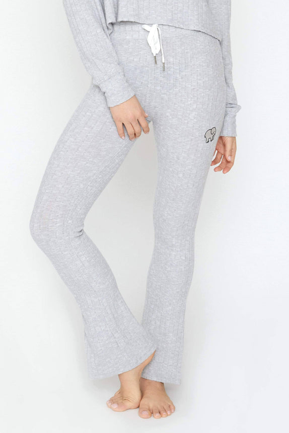 Light Grey Cozy Rib Pants