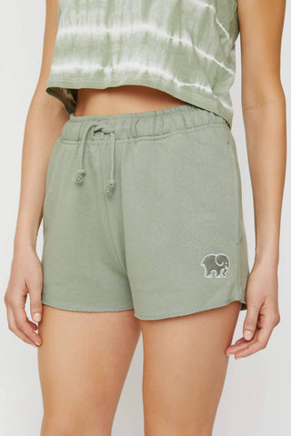 Ivory Ella Women's Bottoms XS Lily Pad Organic French Terry Shorts