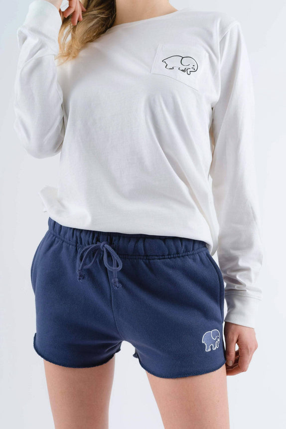 Navy Garment Dyed Organic Shorts