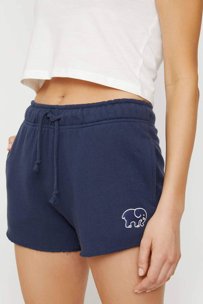 Navy Organic French Terry Short