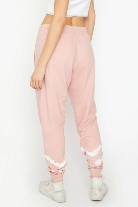 Ivory Ella Women's Bottoms XS Rose Quartz Double Stripe Tie Dye Jogger