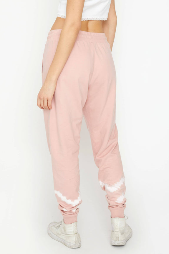 Rose Quartz Double Stripe Tie Dye Jogger