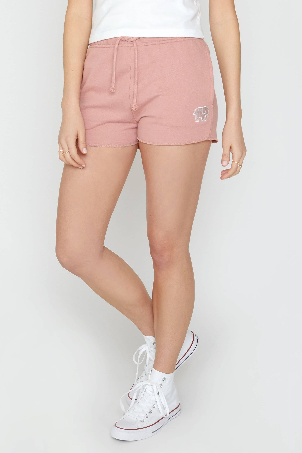 Ivory Ella Women's Bottoms XS Rose Quartz Organic Drawstring Shorts