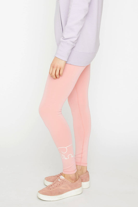 Rose Quartz Recycled Poly Legging