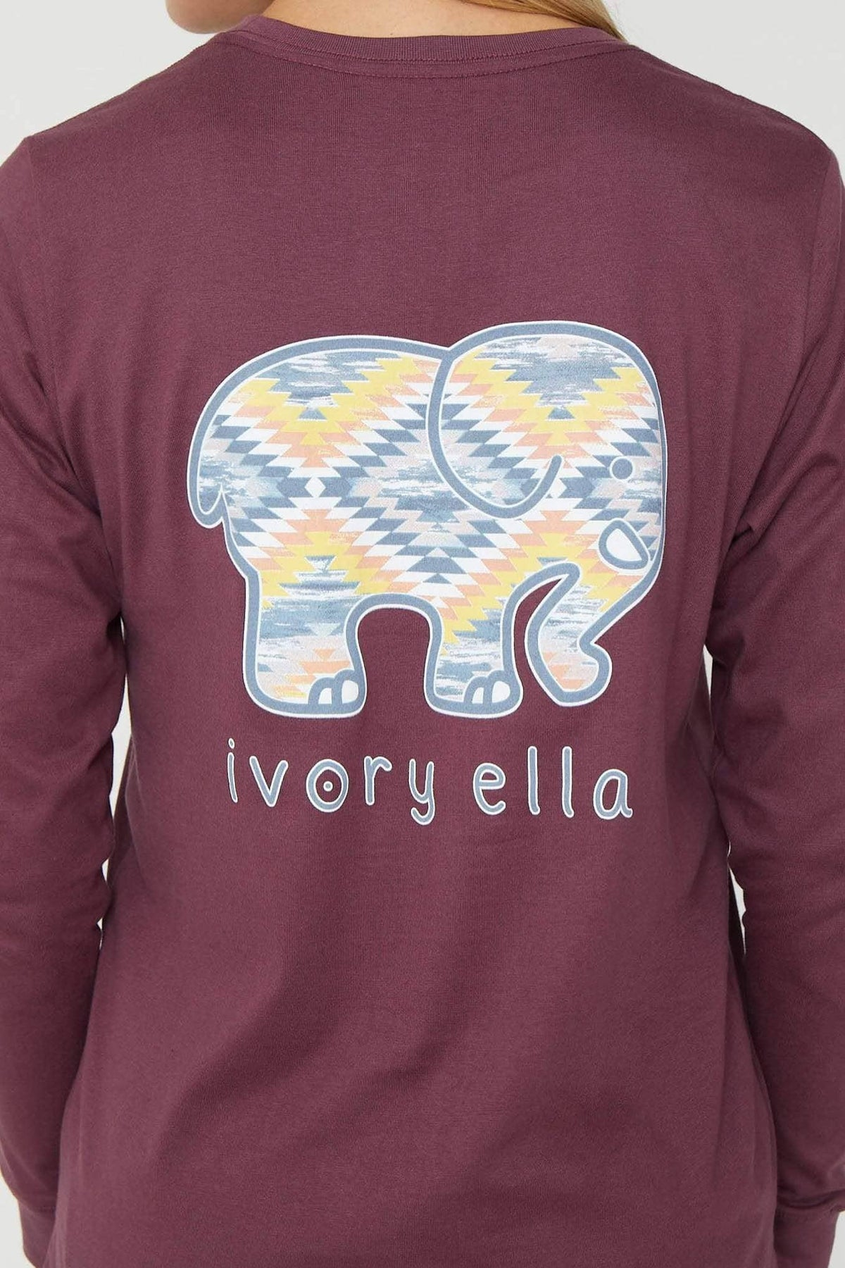 Ivory Ella Women's Long Sleeve Shirts Eggplant Dream Catcher Long Sleeve Ella Tee