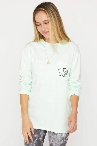Ivory Ella Women's Long Sleeve Shirts Mint Zen Classic Tee