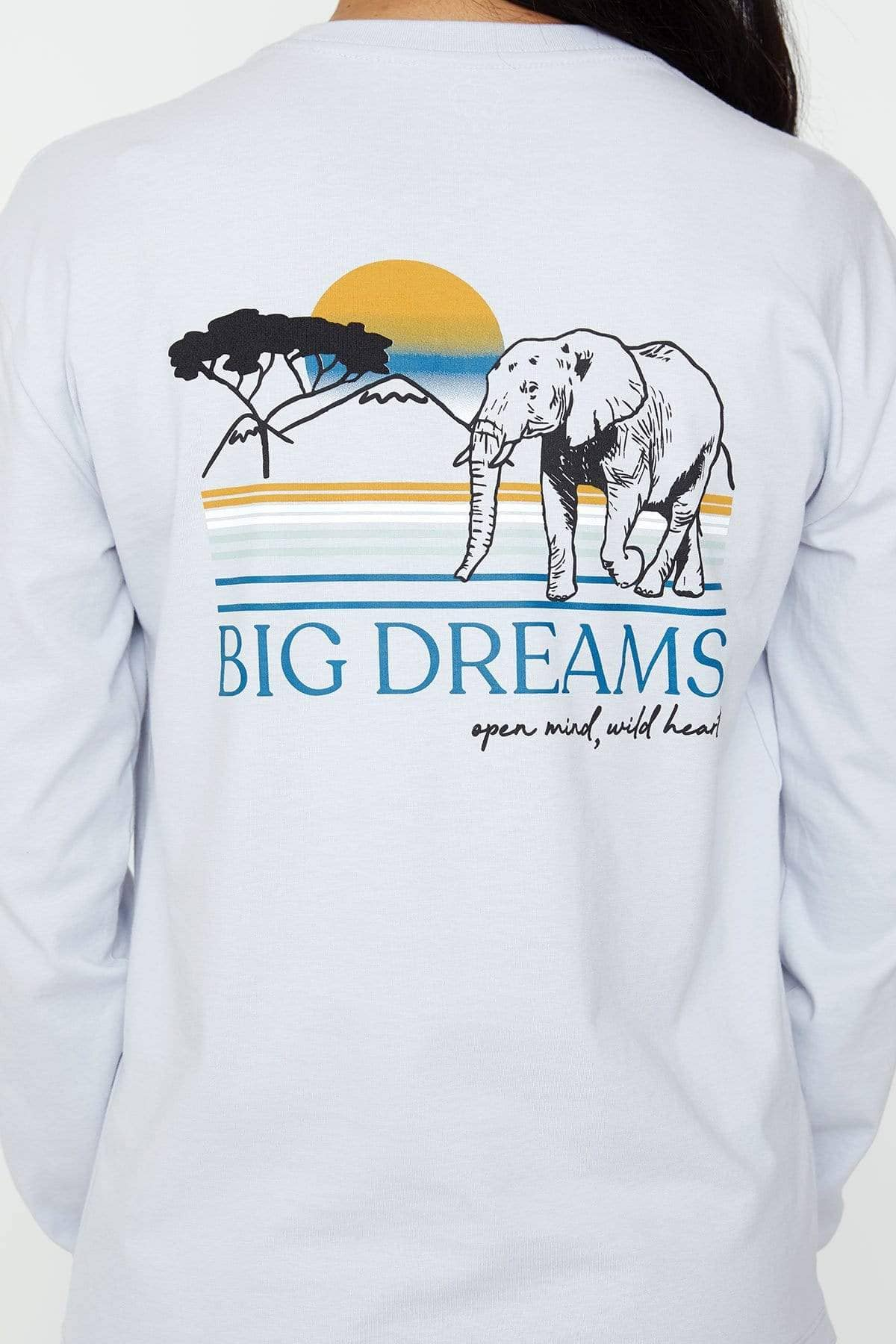 Moonstone Blue Big Dreams Classic Tee - Ivory Ella - Women's Long Sleeve Shirts