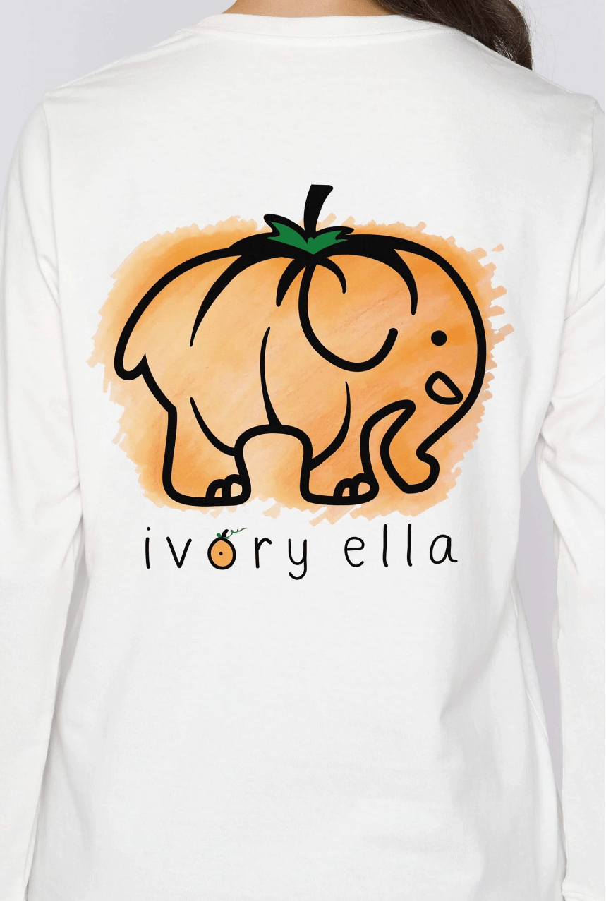 Ivory Ella Women's Long Sleeve Shirts Pumpkin Ella Tee