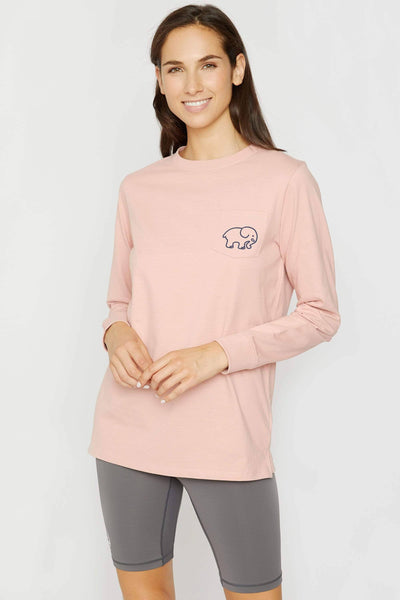 Ivory Ella Women's Long Sleeve Shirts Rose Tan Attributes Long Sleeve Ella Tee