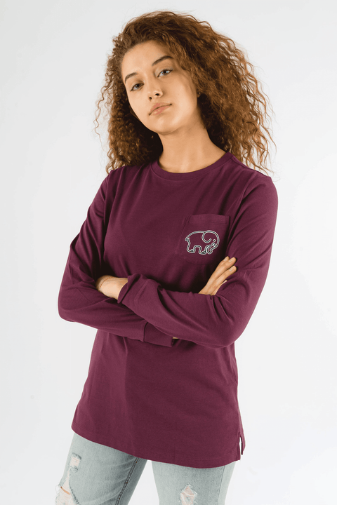 Ivory Ella Women's Long Sleeve Shirts Royal Purple / XS Ella Fit Royal Purple Rosemale Tee