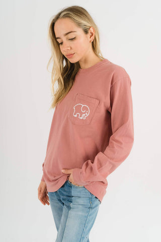 Ivory Ella Women's Long Sleeve Shirts S Classic Fit Vintage Rose Classic