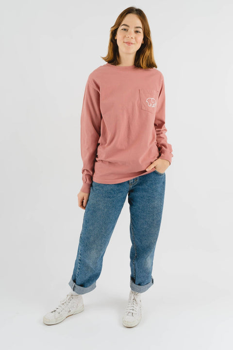 Ivory Ella Women's Long Sleeve Shirts S Classic Fit Vintage Rose Signature Logo