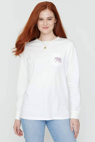 Ivory Ella Women's Long Sleeve Shirts Soft White For Luck Ella Tee